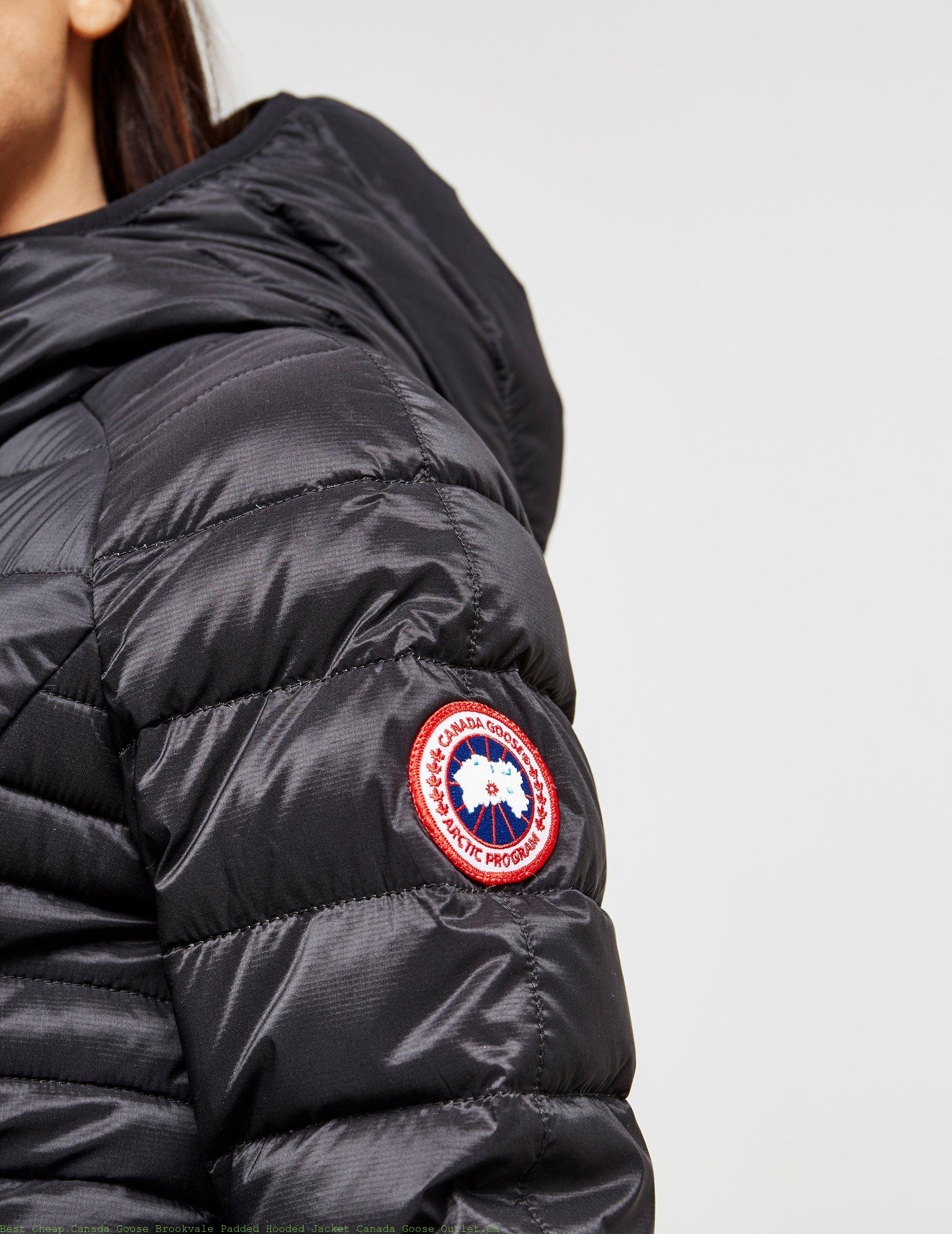 5277a7e97 Best Cheap Canada Goose Brookvale Padded Hooded Jacket Canada Goose  Outlet.Ca