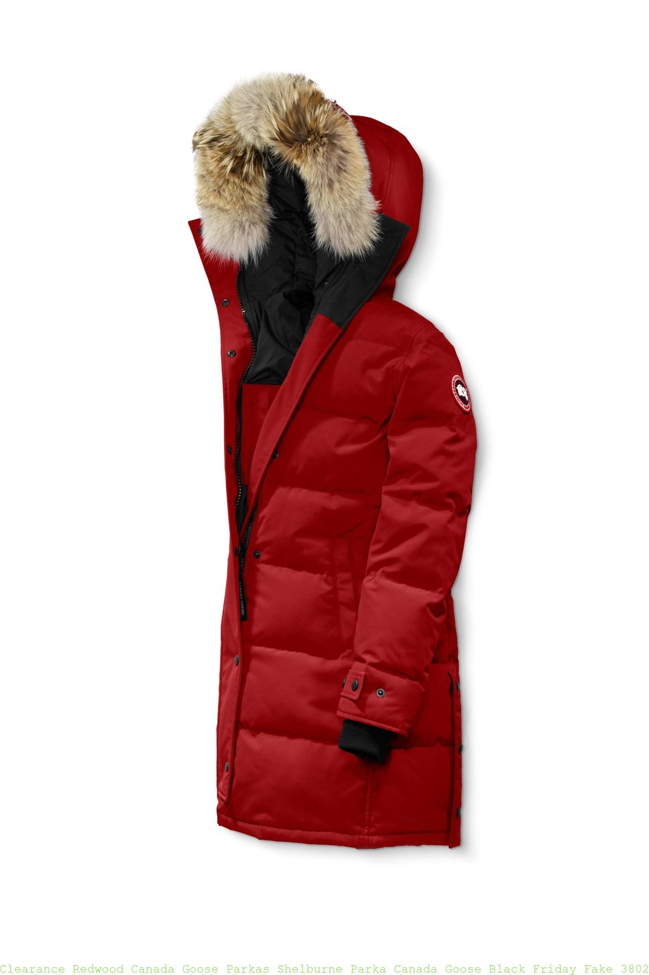 ae5eb66268c Clearance Redwood Canada Goose Parkas Shelburne Parka Canada Goose Black  Friday Fake 3802L