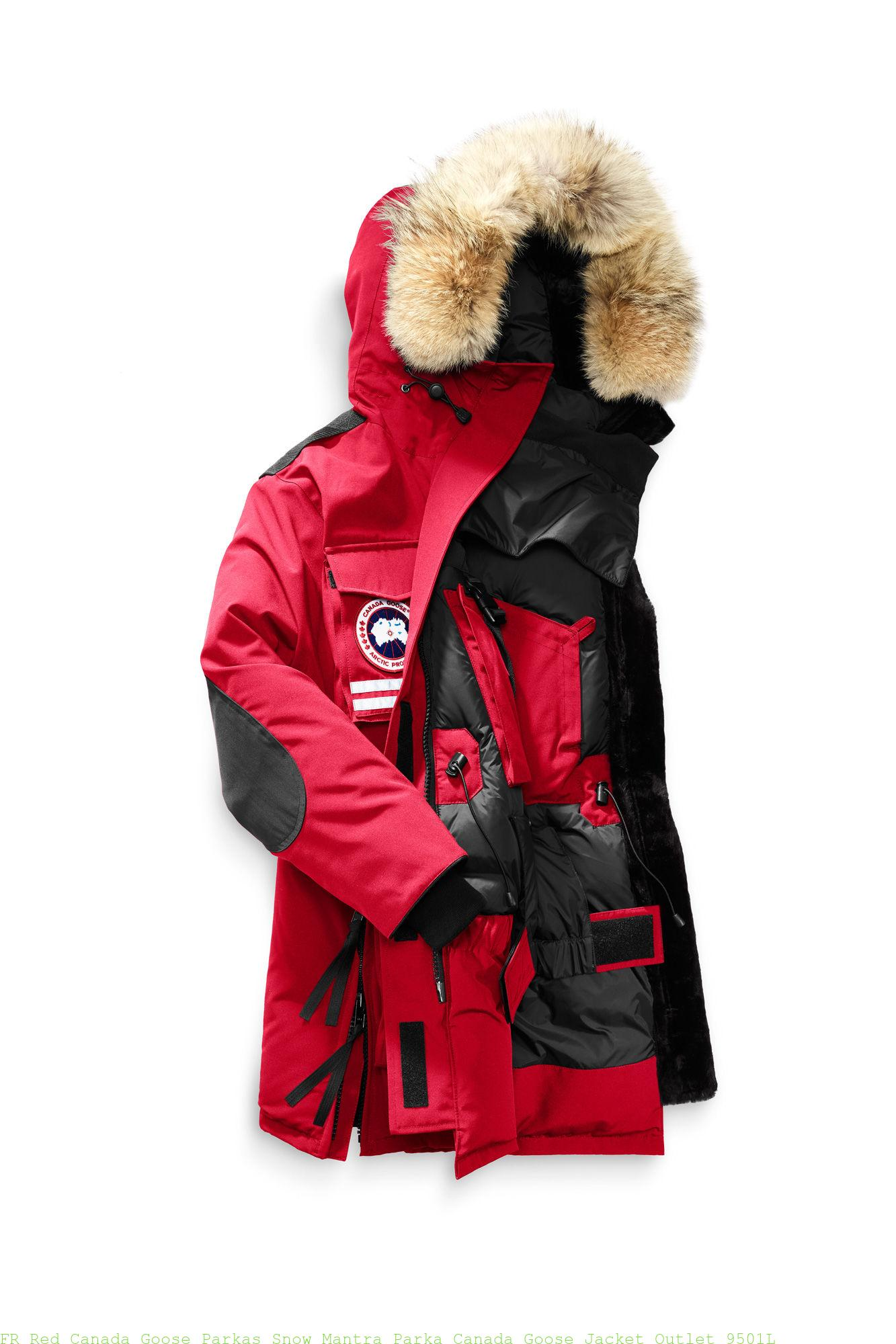 on sale 561b8 a70d2 FR Red Canada Goose Parkas Snow Mantra Parka Canada Goose Jacket Outlet  9501L