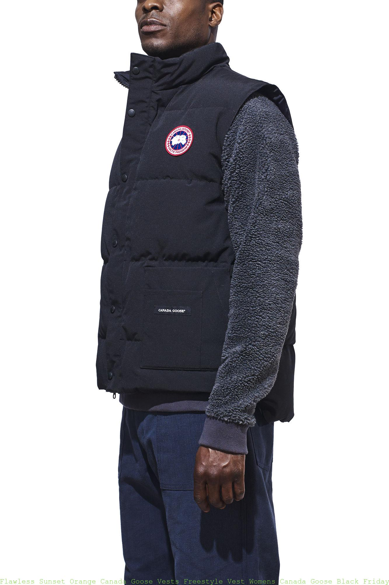 Flawless Sunset Orange Canada Goose Vests Freestyle Vest Womens Canada Goose Black Friday 4150m Cheap Canada Goose Outlet Jackets Online Sale Store