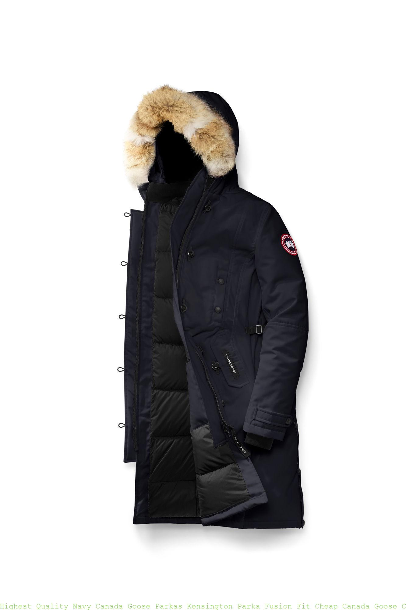 1a7ee8a20d5 Highest Quality Navy Canada Goose Parkas Kensington Parka Fusion Fit Cheap Canada  Goose China 2506LA