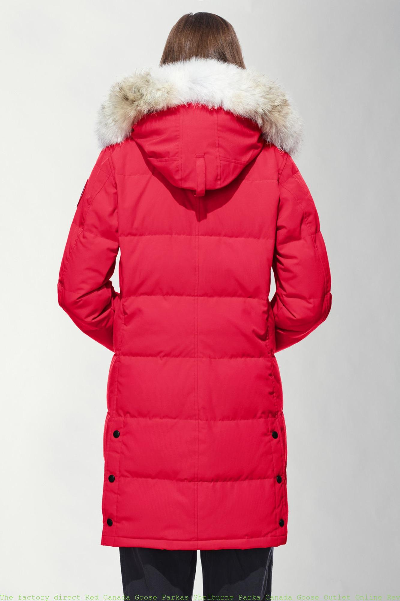50e75c9e967 The factory direct Red Canada Goose Parkas Shelburne Parka Canada Goose  Outlet Online Reviews 3802L